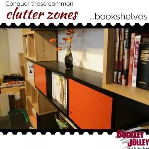 Conquer Clutter - bookshelves