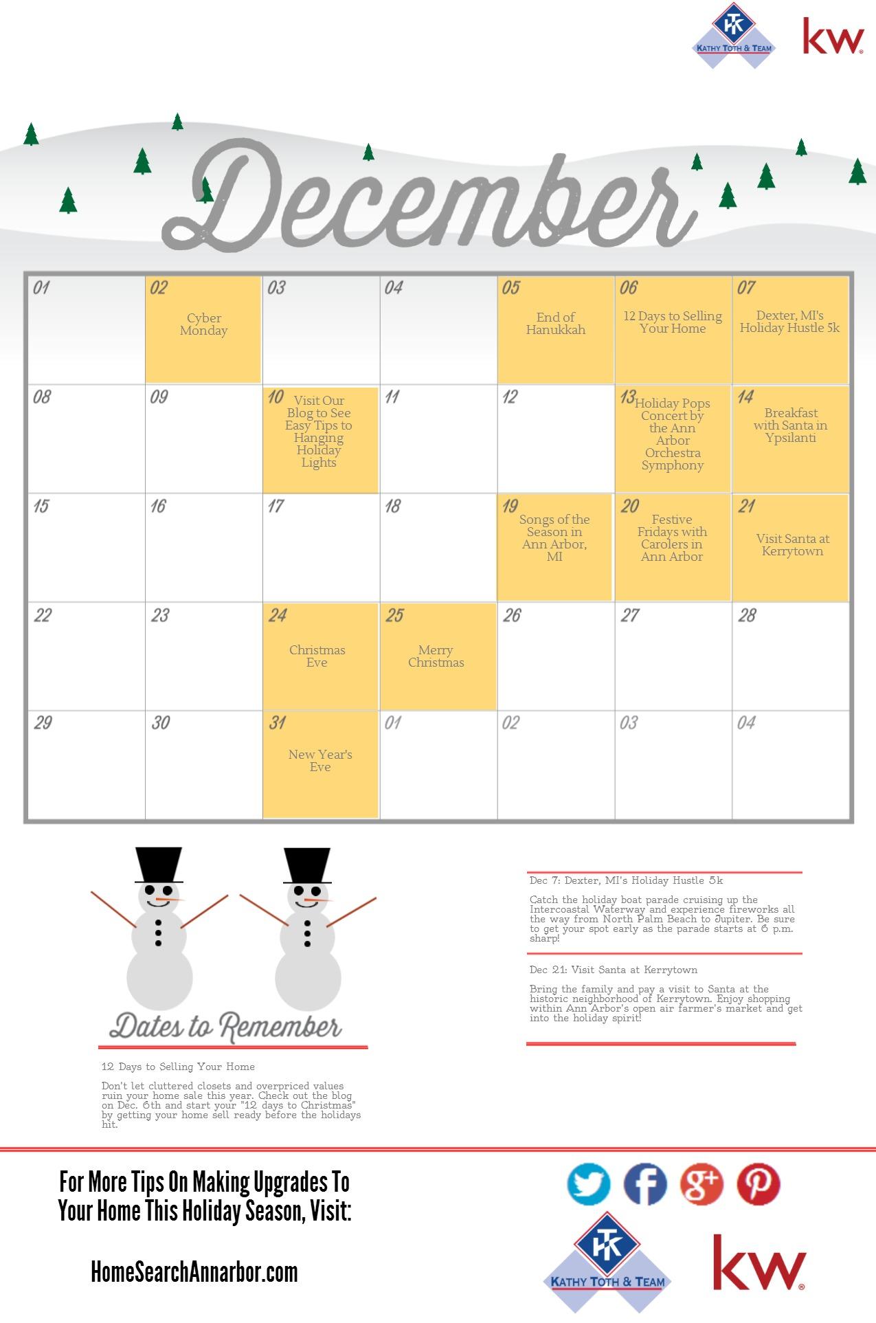 Ann Arbor Holiday Calendar