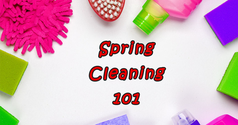 Spring cleaning in your new home.