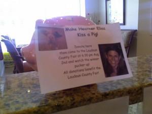 Loudoun County Fair, Kiss a Pig