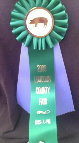 Loudoun County Fair, Kiss a Pig Ribbon