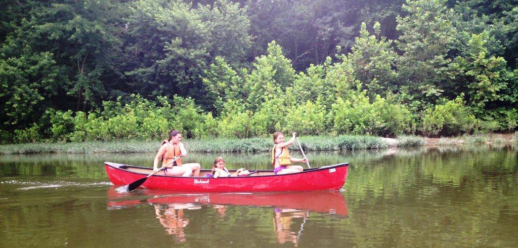 White's Ferry girls canoeing