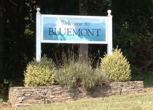 Bluemont Virginia, historic town, Western Loudoun County, Entrance sign