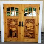 Boulder Crest Lodge doors