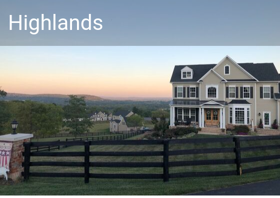 Highlands of Round Hill neighborhood, homes for sale