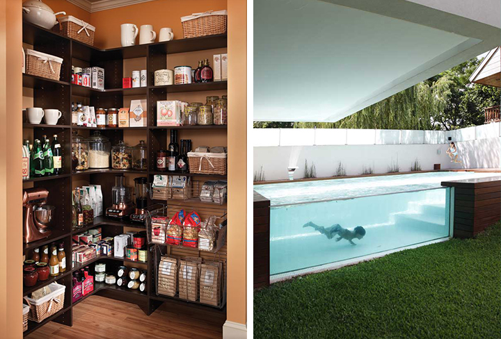 Pantry and Above-Ground Window Pool