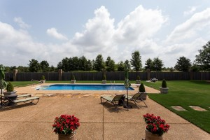 Stunning full brick home with charming southern details and gorgeous pool view. Relaxing spacious master bath with glassed-in tile shower & jetted tub!