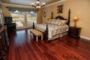 Breathtaking picturesque views of pool and lake throughout home with spacious master suite and marble floors!