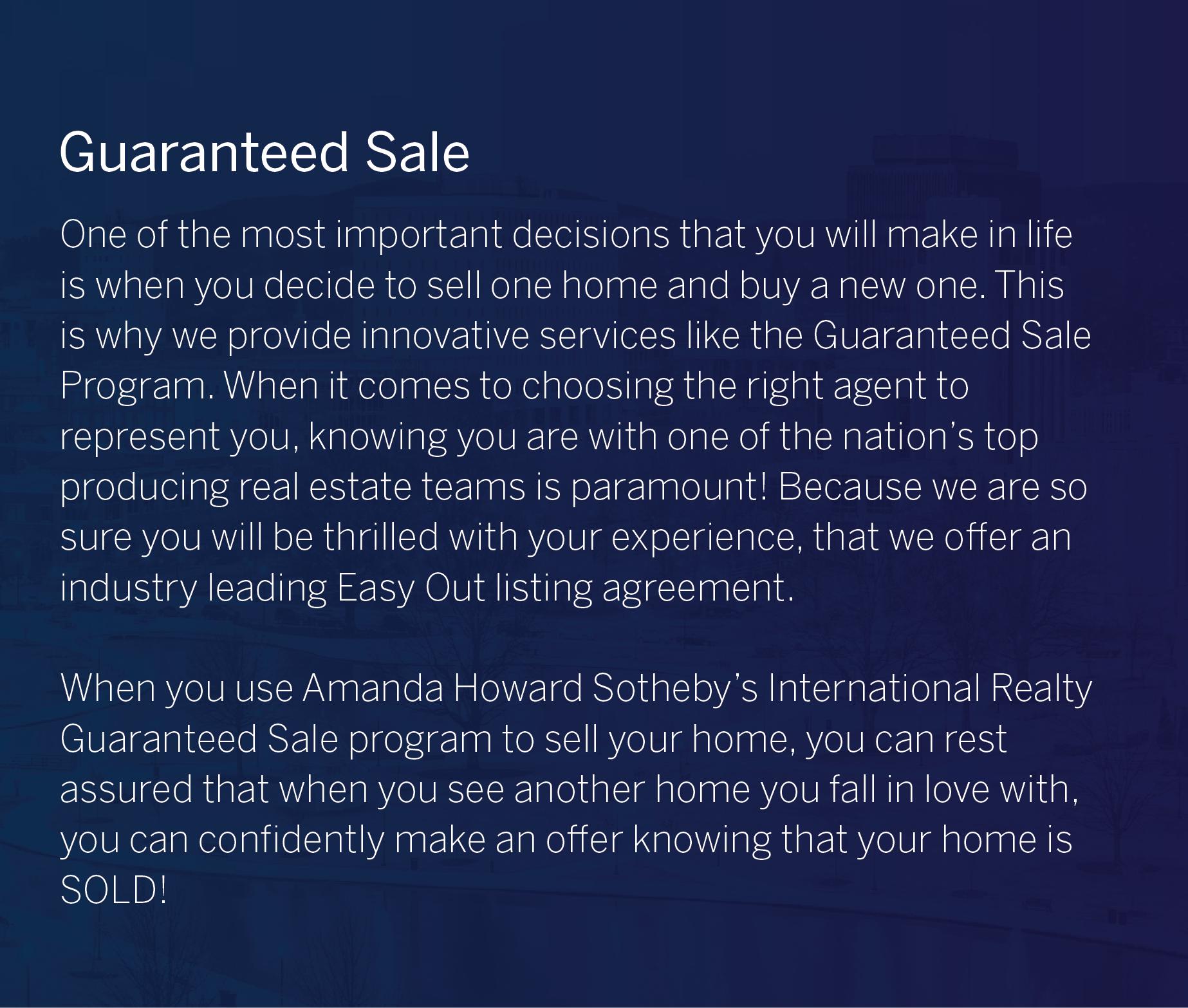 Guaranteed Sale