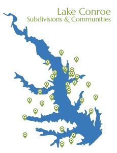 Lake Conroe Subdivision Map