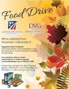 Daniel Montez Real Estate Group Food Drive 2013