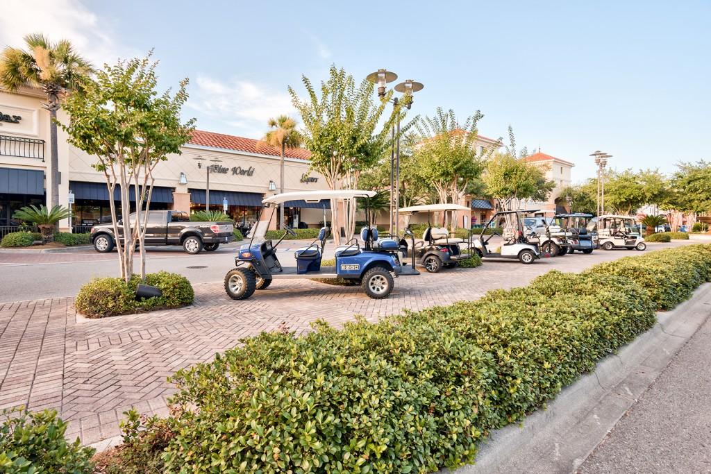 Golf Cart Parking at Grand Boulevard in Sandestin