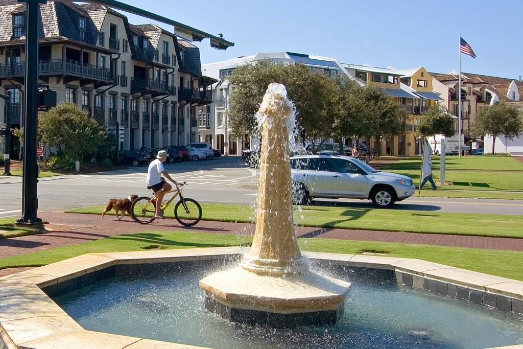 Fountain at Rosemary Beach