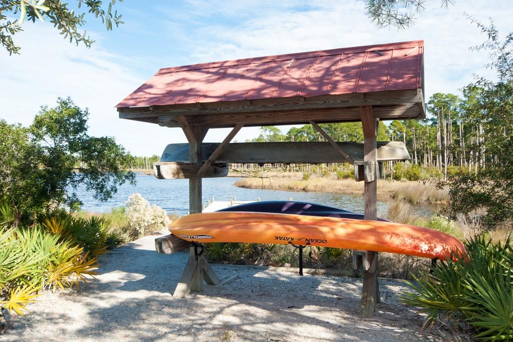 Canoe Rack on Draper Lake in The Retreat