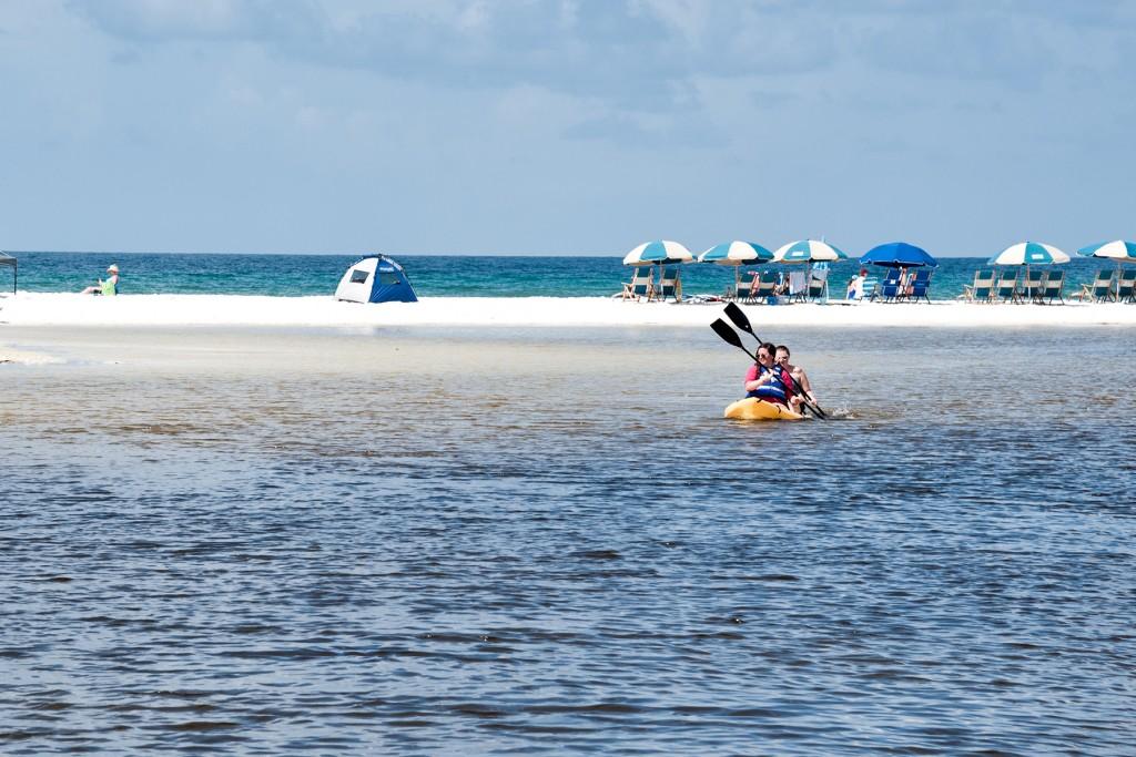 Kayaking on Eastern Lake in Seagrove Beach