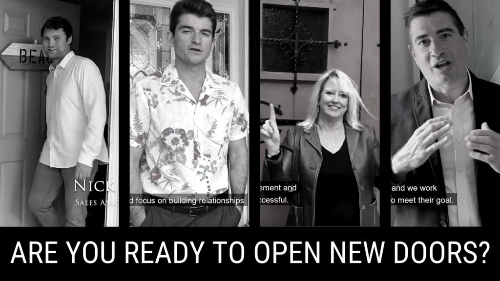 4 agents opening doors