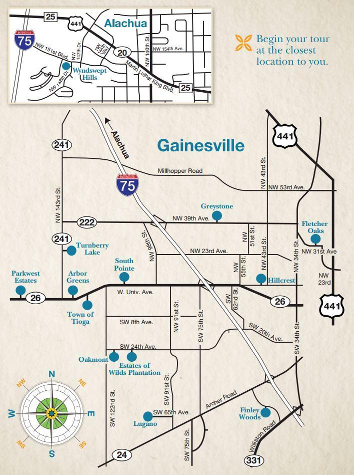 Parade of Homes Spring 2016 Map