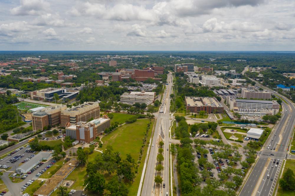 Gainesville Florida Aerial View