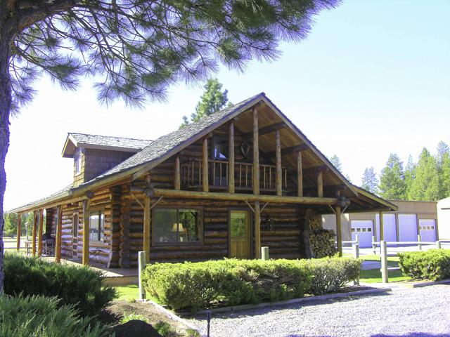 Classic Full-Scribe Custom Log Home on 5 Acres!
