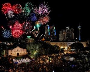 Alamo Plaza Fireworks