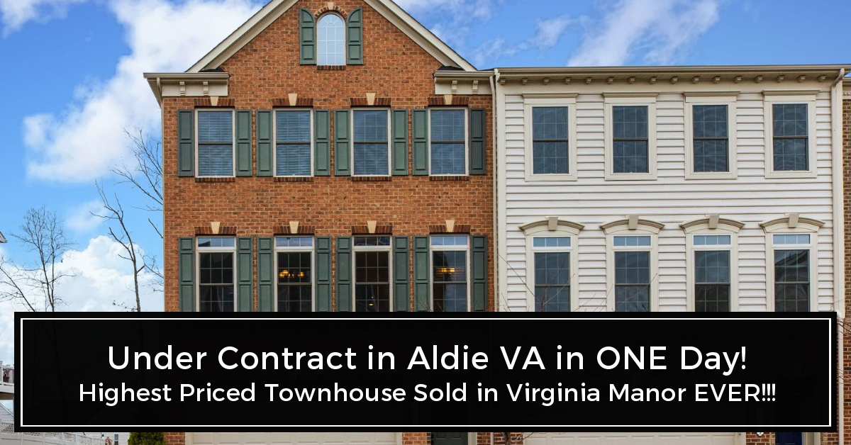 Photo of Townhouse with text UNDER CONTRACT