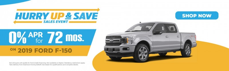 Adamson Ford's 2019 Ford F-150 would get you out to Ruffner or East Lake Park in style.