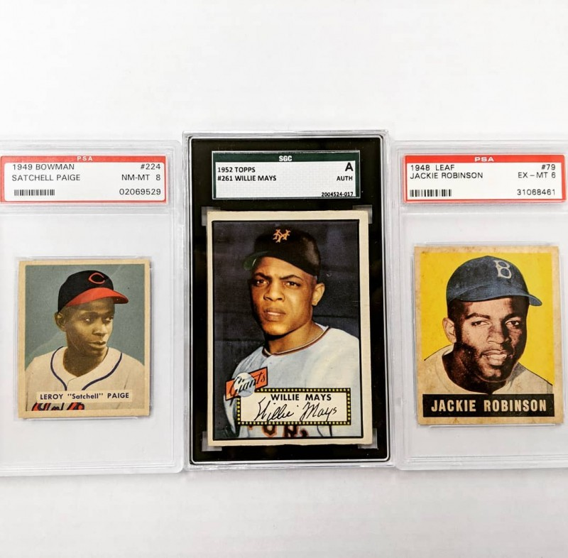 Rookie baseball cards for legends who played for the Black Barons.