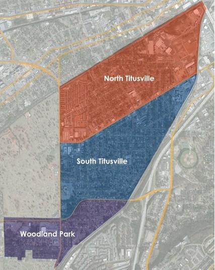 Map of Titusville from the Titusville Community Framework Plan.