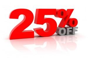 25% REBATE