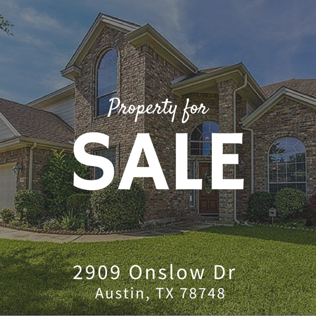 Homes For Sale Austin TX | 2909 Onslow Dr Austin