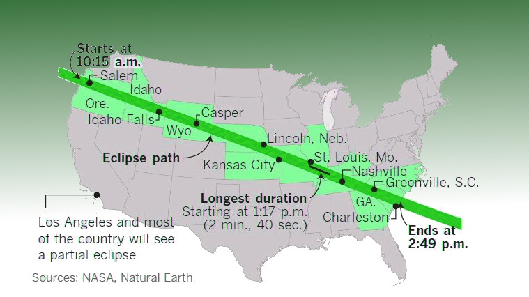 Total Solar Eclipse In Greenville Sc Where And When To See It