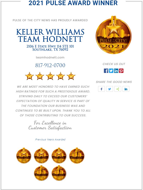 2021 Pulse Award