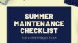 Summer Maintenance Checklist   The Christy Buck Real Estate Team