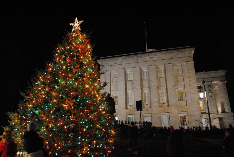 event spotlight n c state capitol christmas tree lighting