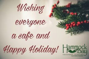 Wishing everyone a safe and Happy Holiday!