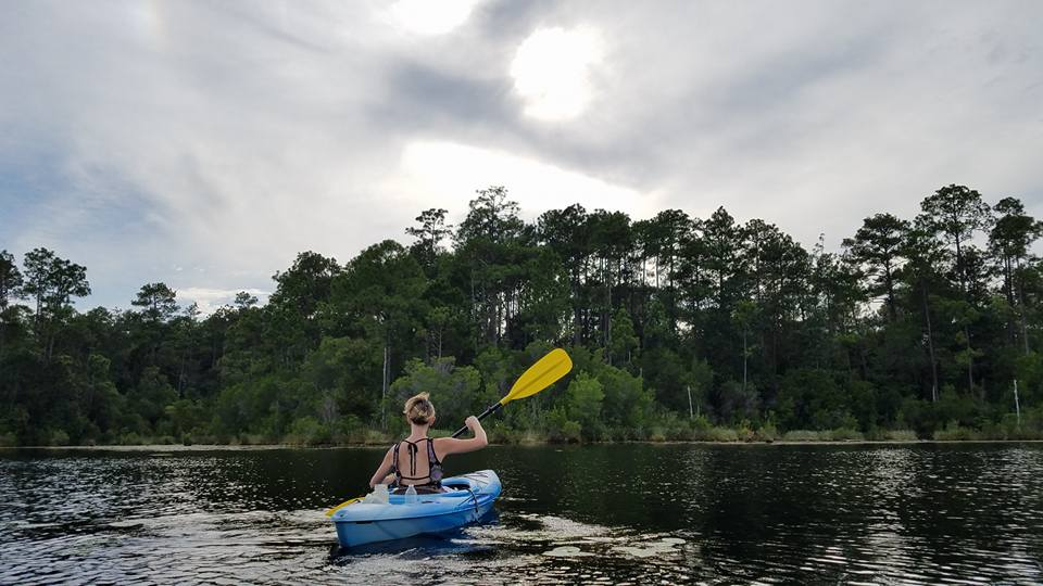 Kayaking on Roberts Lake