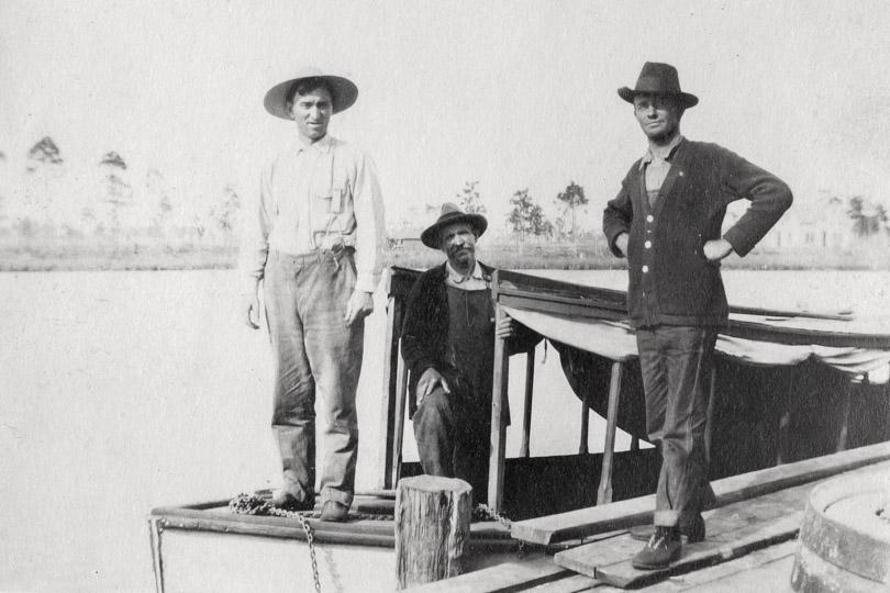 Men on a boat.
