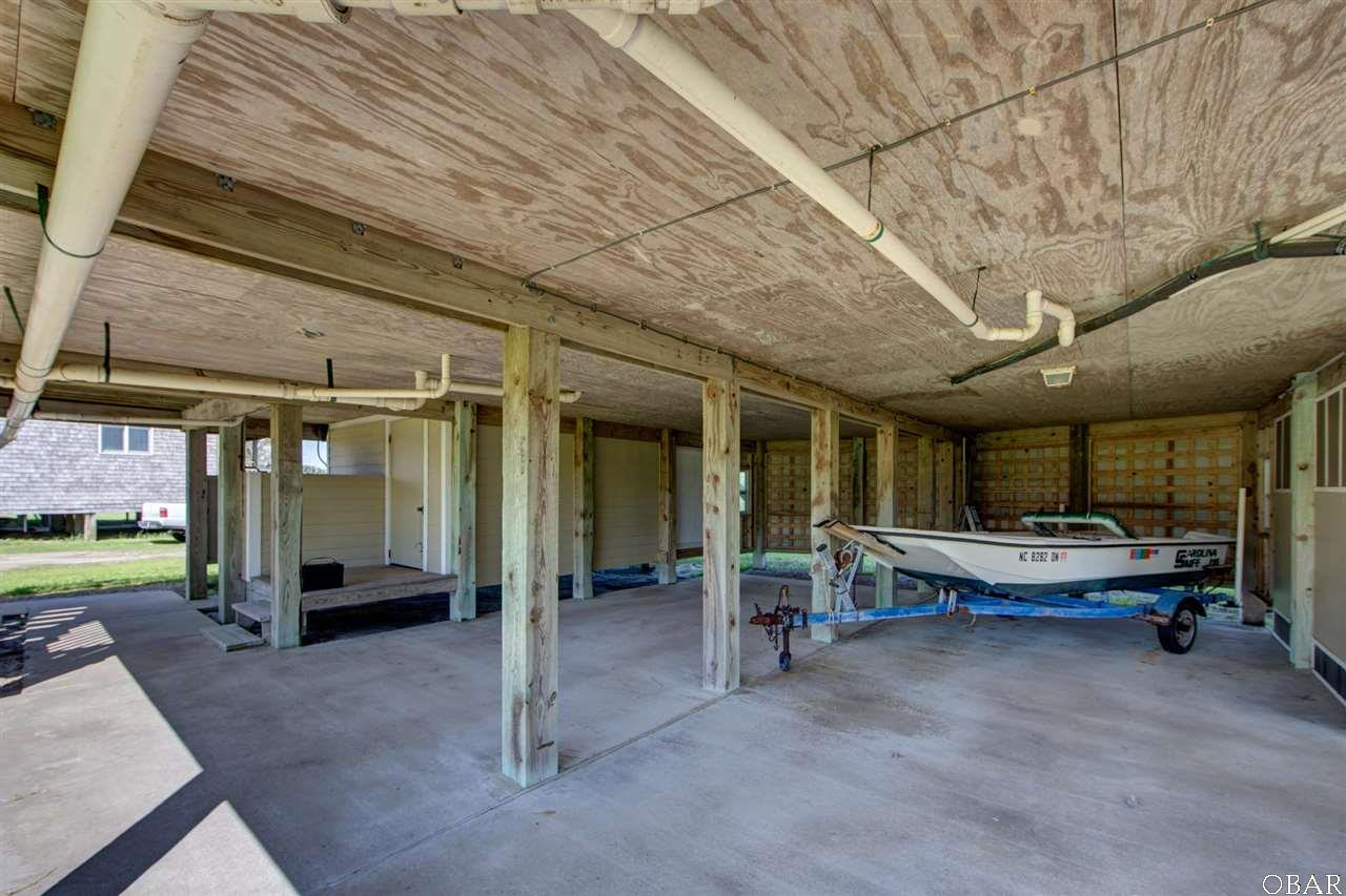 Photo of the carport of 57195 M. V. Australia Lane in Hatteras, NC. This listing is for sale by Trisha Midgett.