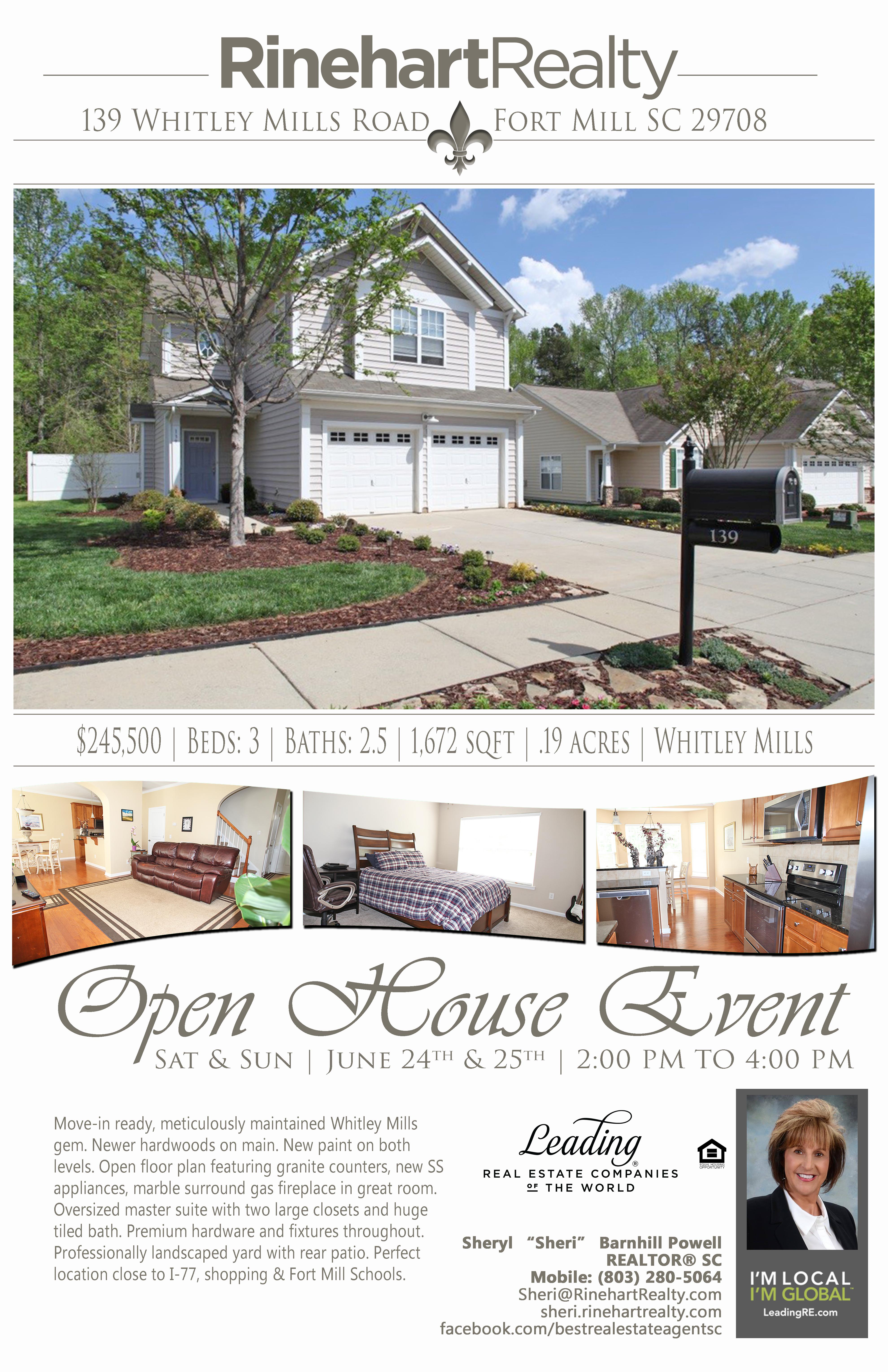 """OPEN HOUSES: Saturday, June 24th 