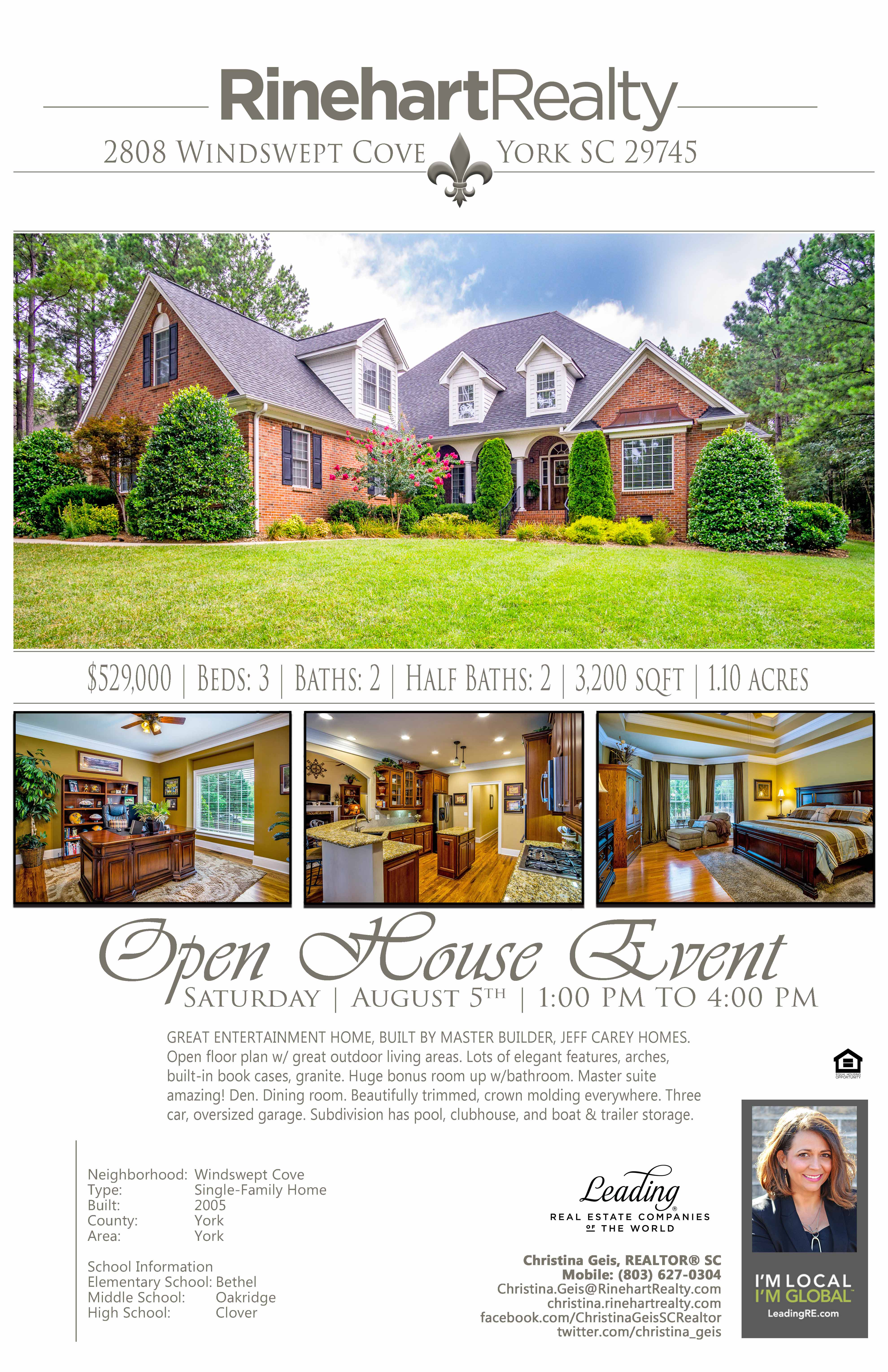 Open House Saturday August 5th 1 00 Pm To 4 00 Pm 2808