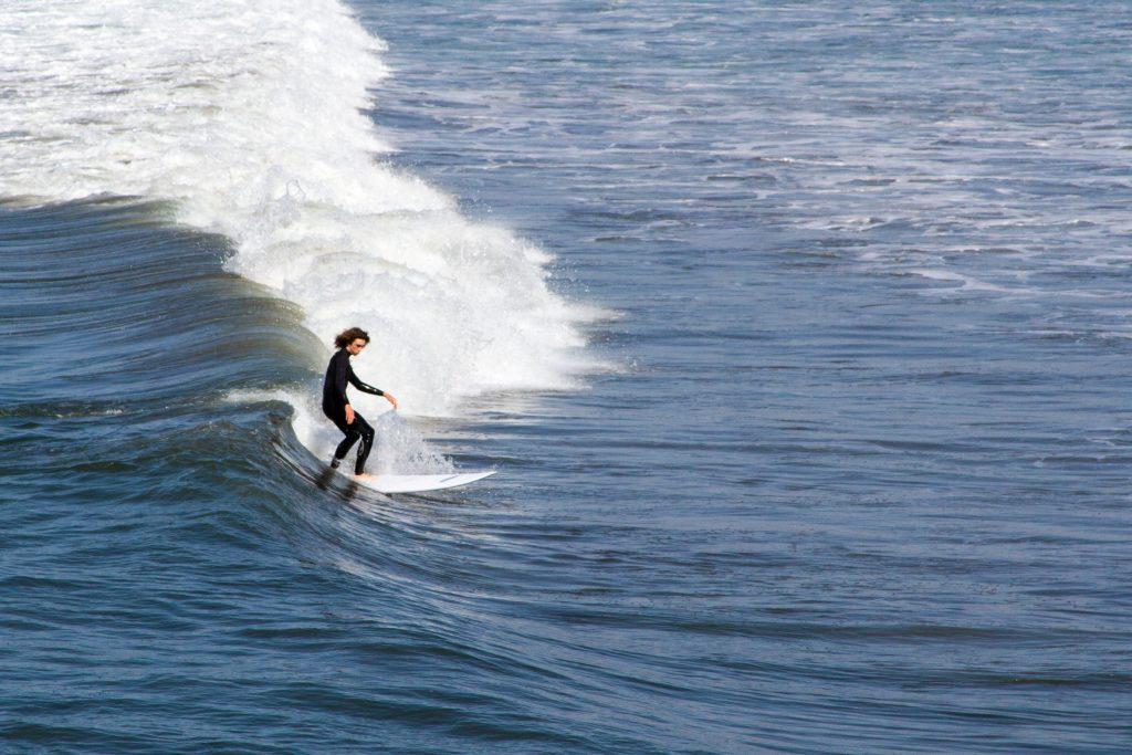 Surfing at Ocean Beach