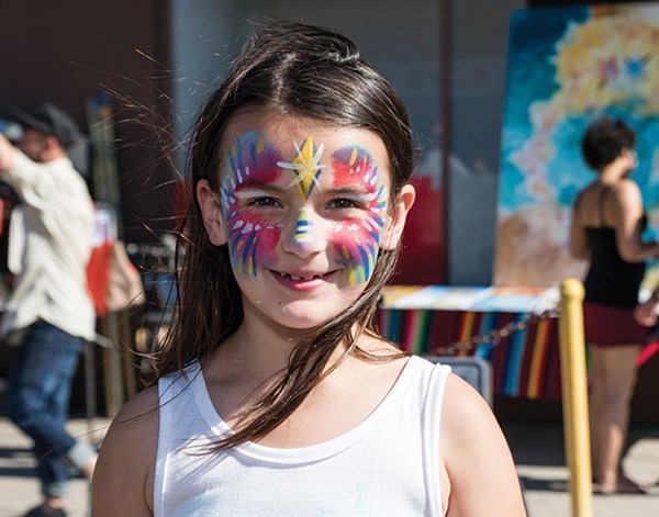 Face painting at the SDCCU Festival of the Arts