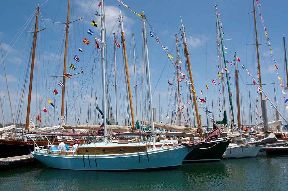 Wooden boats on harbor