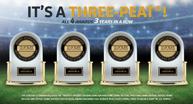Century 21 JD Powers Award 3 Years in a Row
