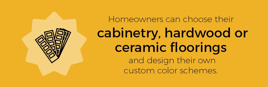 55+ community custom homes