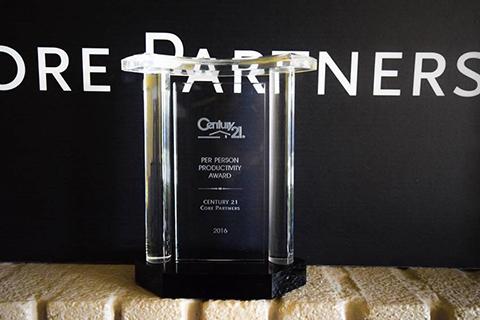 Century 21 Core partners 2016 Per Person Production Award