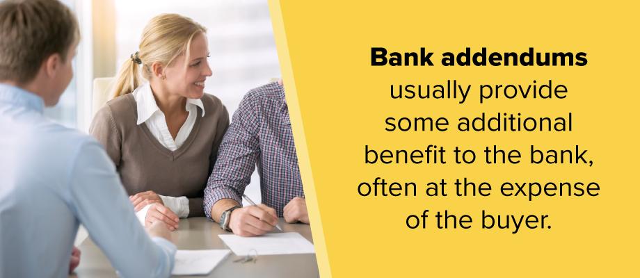Bank Addendum Definition