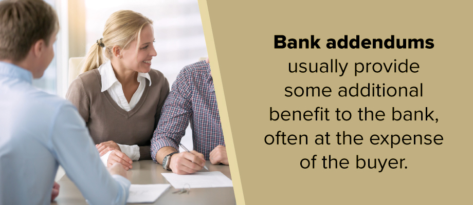What is a Bank Addendum?