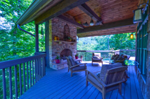 Outdoor Fireplace | 1886 Acorn Branch Ln