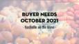 Buyer Needs | October 2021